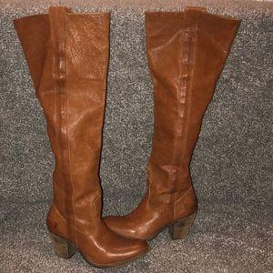 Frye OTK Heeled leather boot 7.5